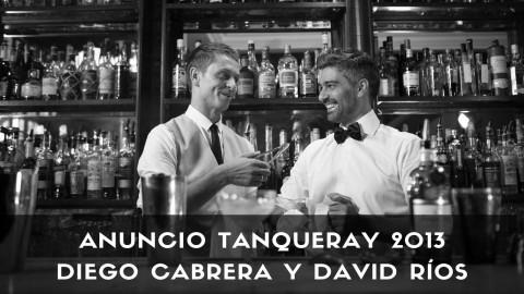 Anuncio de Tanqueray con los bartender de coctelería Diego Cabrera y David Ríos