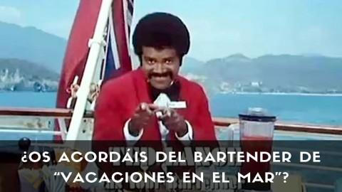 """Ted Lange, actor y bartender de coctelería en la serie """"Vacaciones en el Mar"""""""