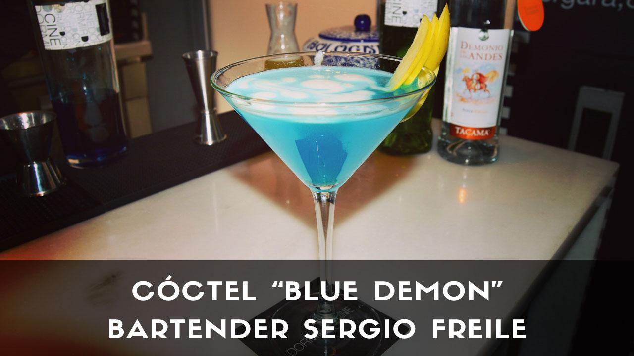Cóctel con pisco, del bartender Sergio Freile en coctelería Beber D Cine (Madrid)