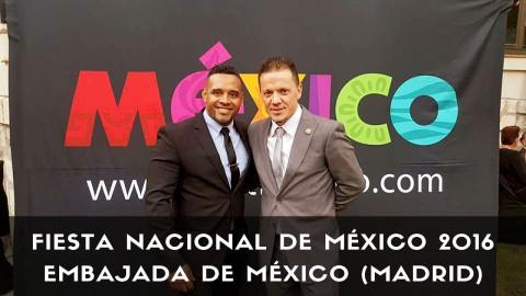 Los bartender Sergio Freile y Javier Payano en la fiesta Nacional de México 2016