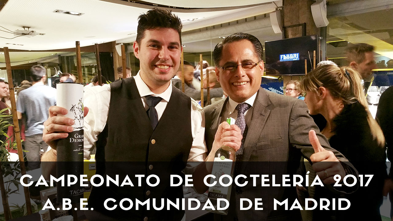 El bartender Pedro Martínez Morillas vencedor del campeonato de coctelería