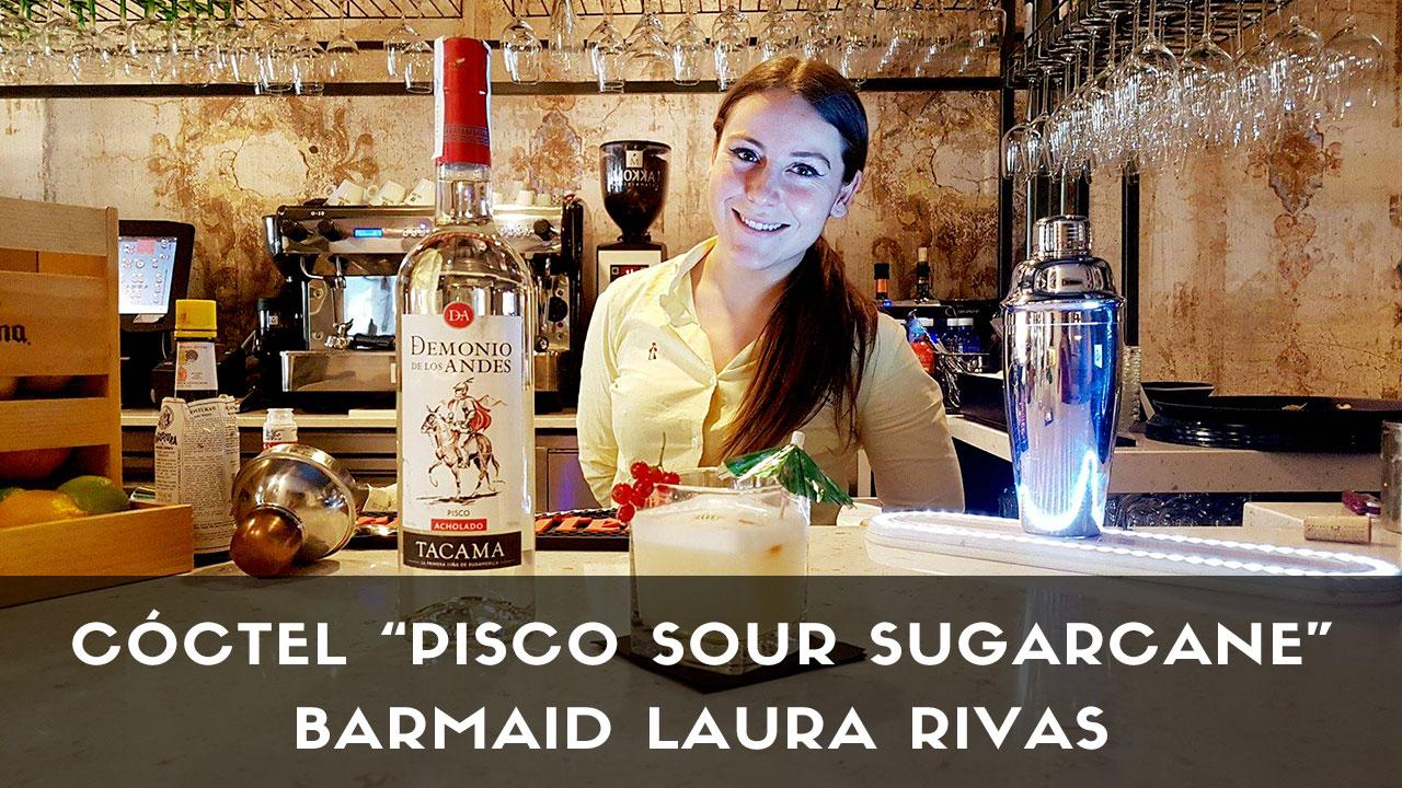 Cóctel Pisco Sour, de la barmaid Laura Rivas en coctelería Sugarcane (Madrid)