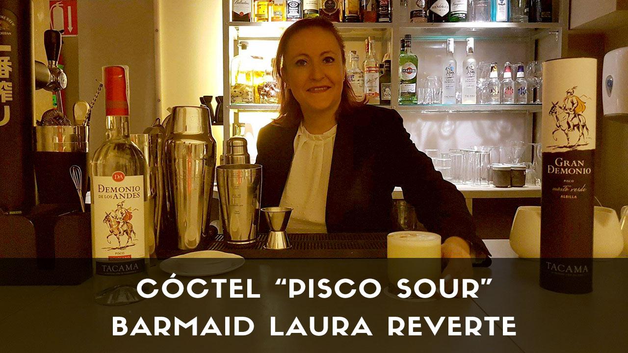 Cóctel Pisco Sour, de la barmaid Laura Reverte en coctelería Kena (Madrid)