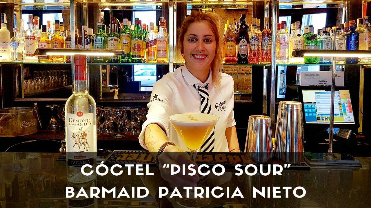 Cóctel Pisco Sour, de la barmaid Patricia Nieto en coctelería Barbara Ann (Madrid)