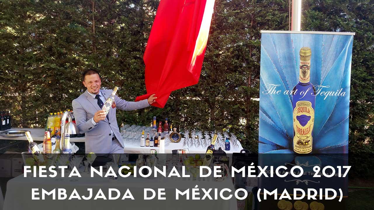 El bartender Sergio Freile en la Fiesta Nacional de México 2017
