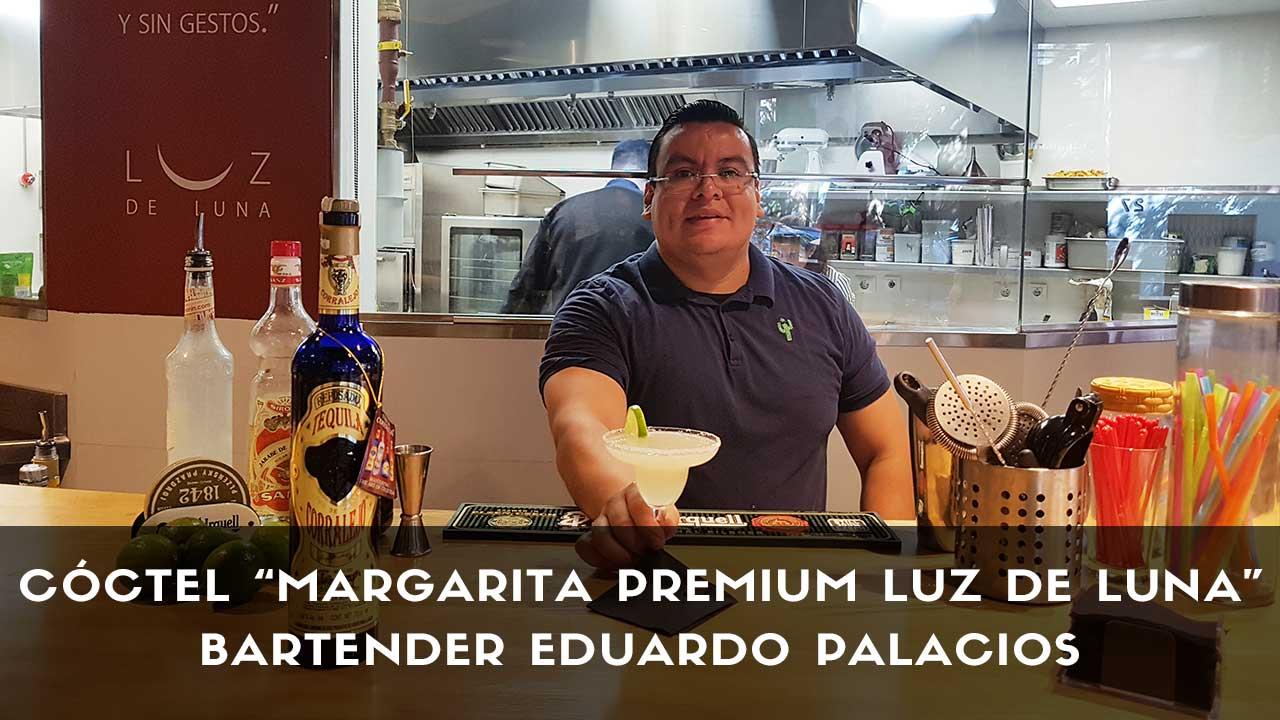 Cóctel Margarita Premium Luz de Luna del bartender Eduardo Palacios en coctelería Luz de Luna (Madrid)