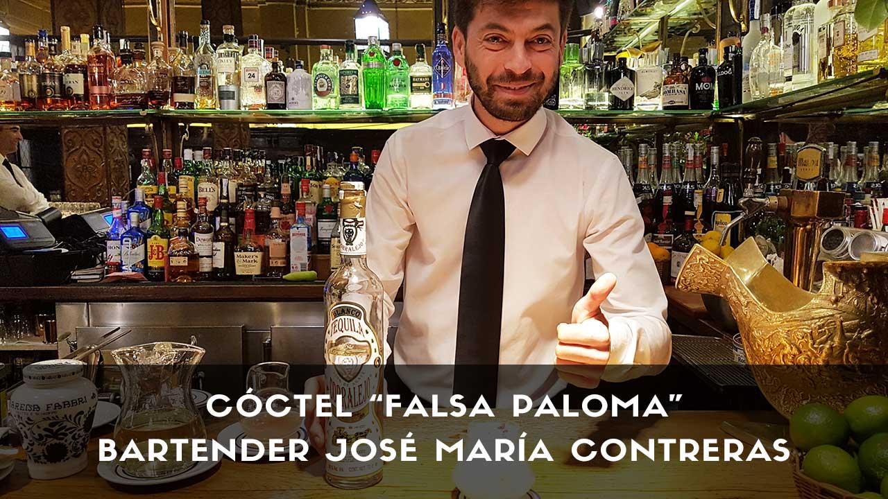 Cóctel con tequila del bartender José María Contreras en la coctelería Bar Cock (Madrid)