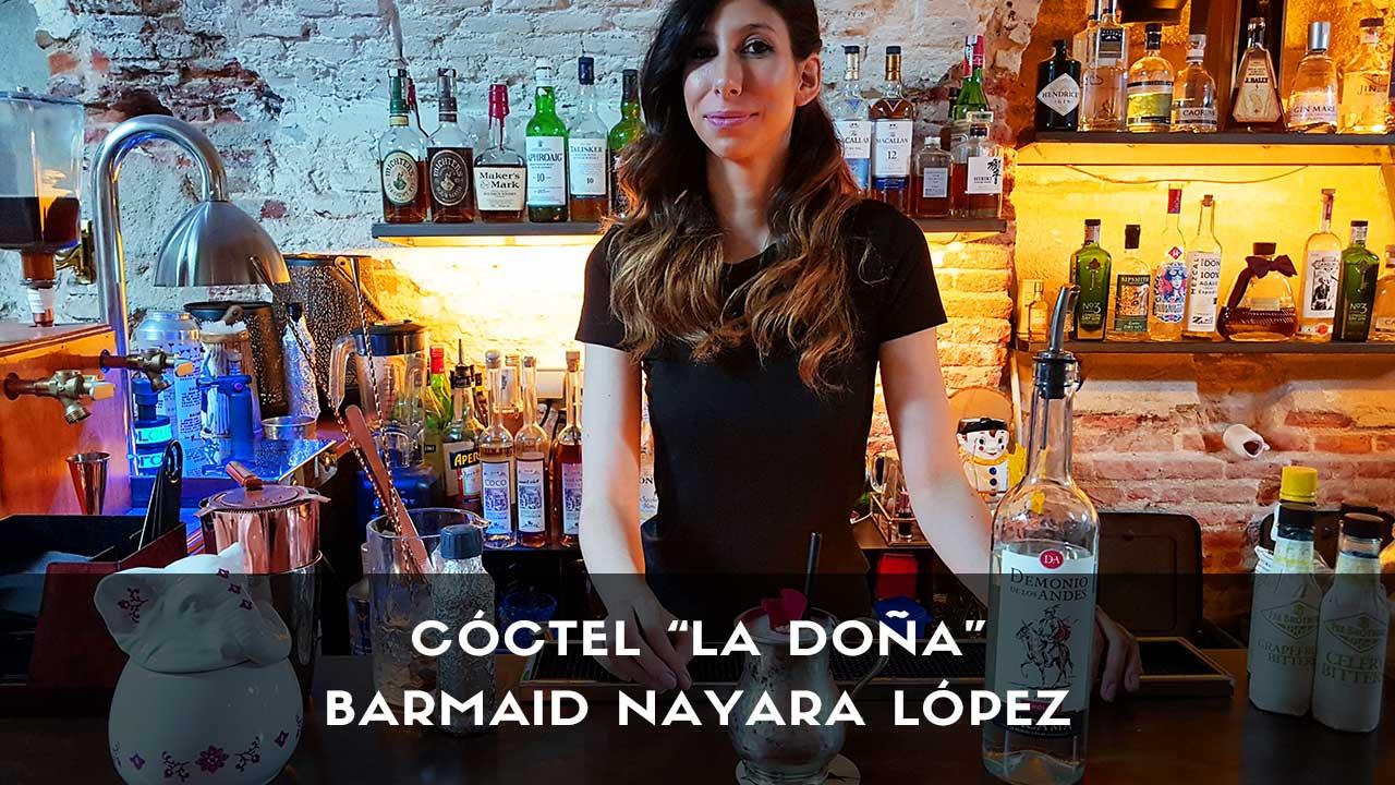 Cóctel con pisco de la barmaid Nayara López en la coctelería Club Clandestino (Madrid)