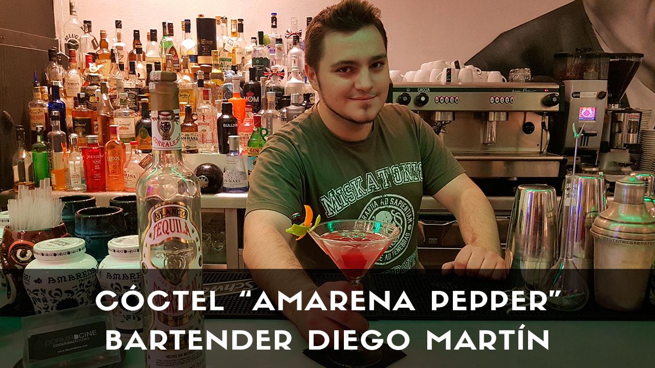 Cóctel con tequila del bartender Diego Martín en la coctelería Dormirdcine (Madrid)