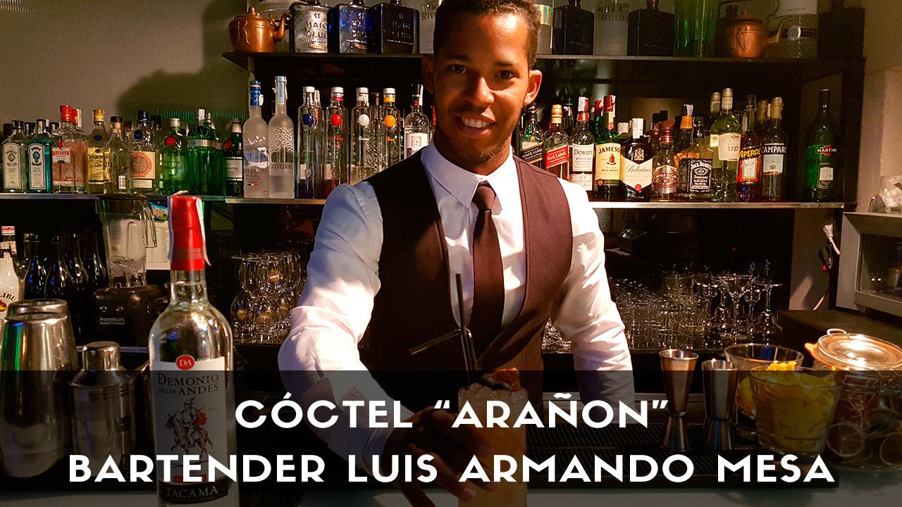 Cóctel con pisco del bartender Luis Armando Mesa en la coctelería Terraza Cibeles (Madrid)