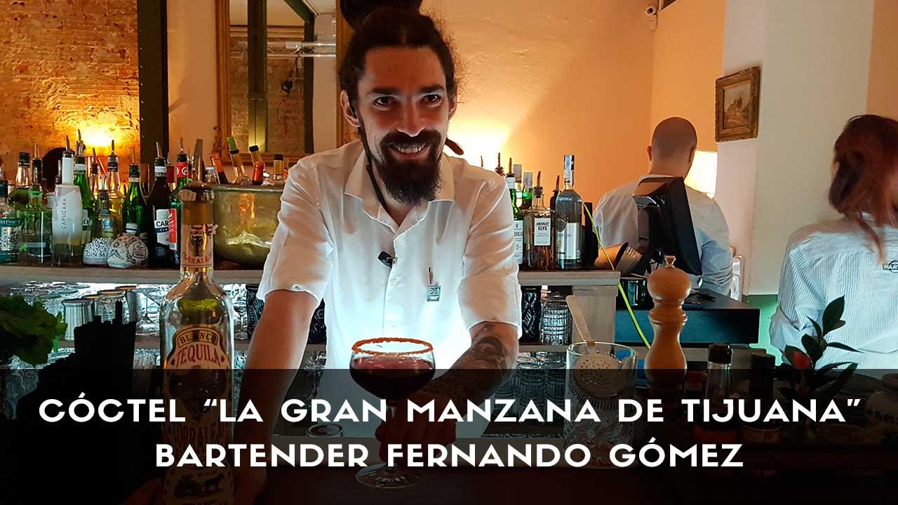 Cóctel con tequila del bartender Fernando Gómez en la coctelería La Rebotica de Ponzano (Madrid)