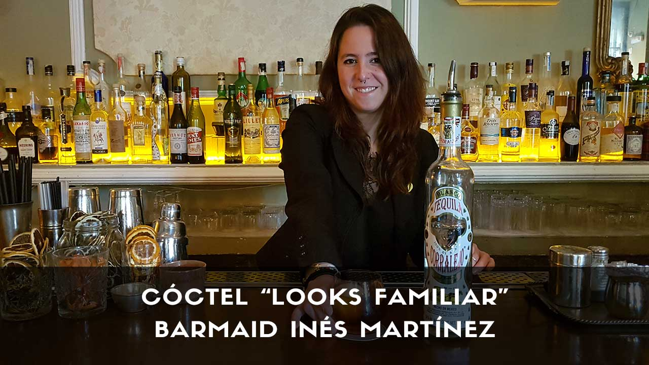 Cóctel con tequila de la barmaid Inés Martínez en la coctelería 1862 Dry Bar (Madrid)