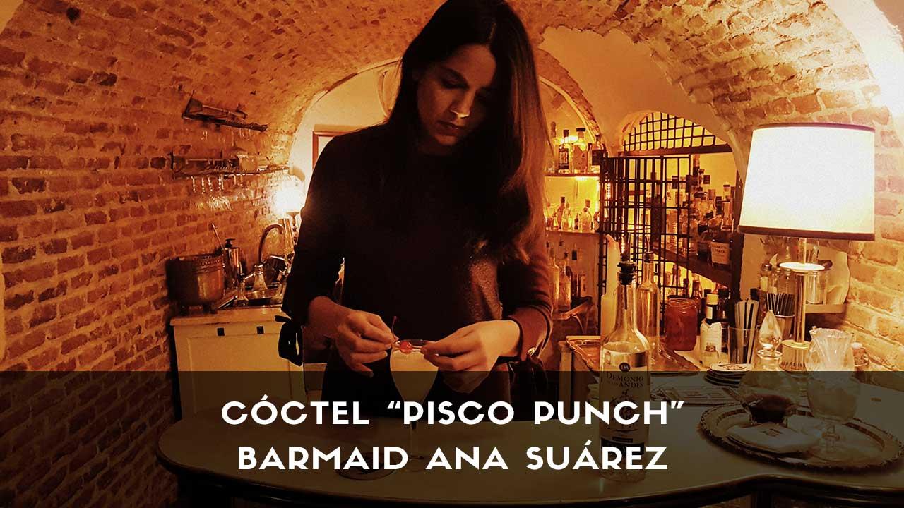 Cóctel Pisco Punch de la barmaid Ana Suárez en la coctelería 1862 Dry Bar (Madrid)