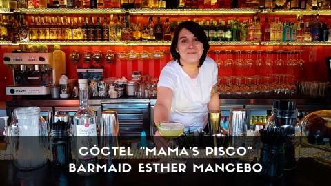 Cóctel con pisco de la barmaid Esther Mancebo en la coctelería de Farruca (Madrid)