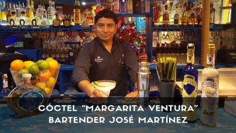 Cóctel Margarita Ventura del bartender José Martínez en la coctelería de El Chaparrito de Ventura (Madrid)