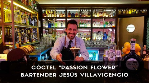 Cóctel con tequila del bartender Jesús Villavicencio en la coctelería El Palco de Platea (Madrid)