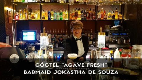 Cóctel con tequila de la barmaid Jokastha de Souza en la coctelería Farándula (Madrid)
