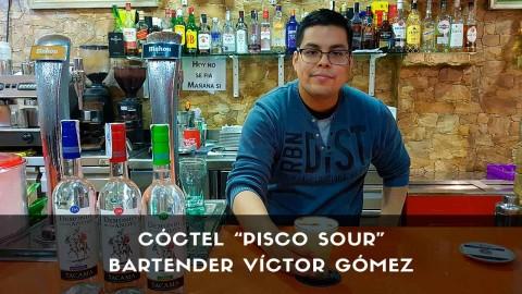 Cóctel Pisco Sour del bartender Víctor Gómez en la coctelería de Casa Víctor (Madrid)