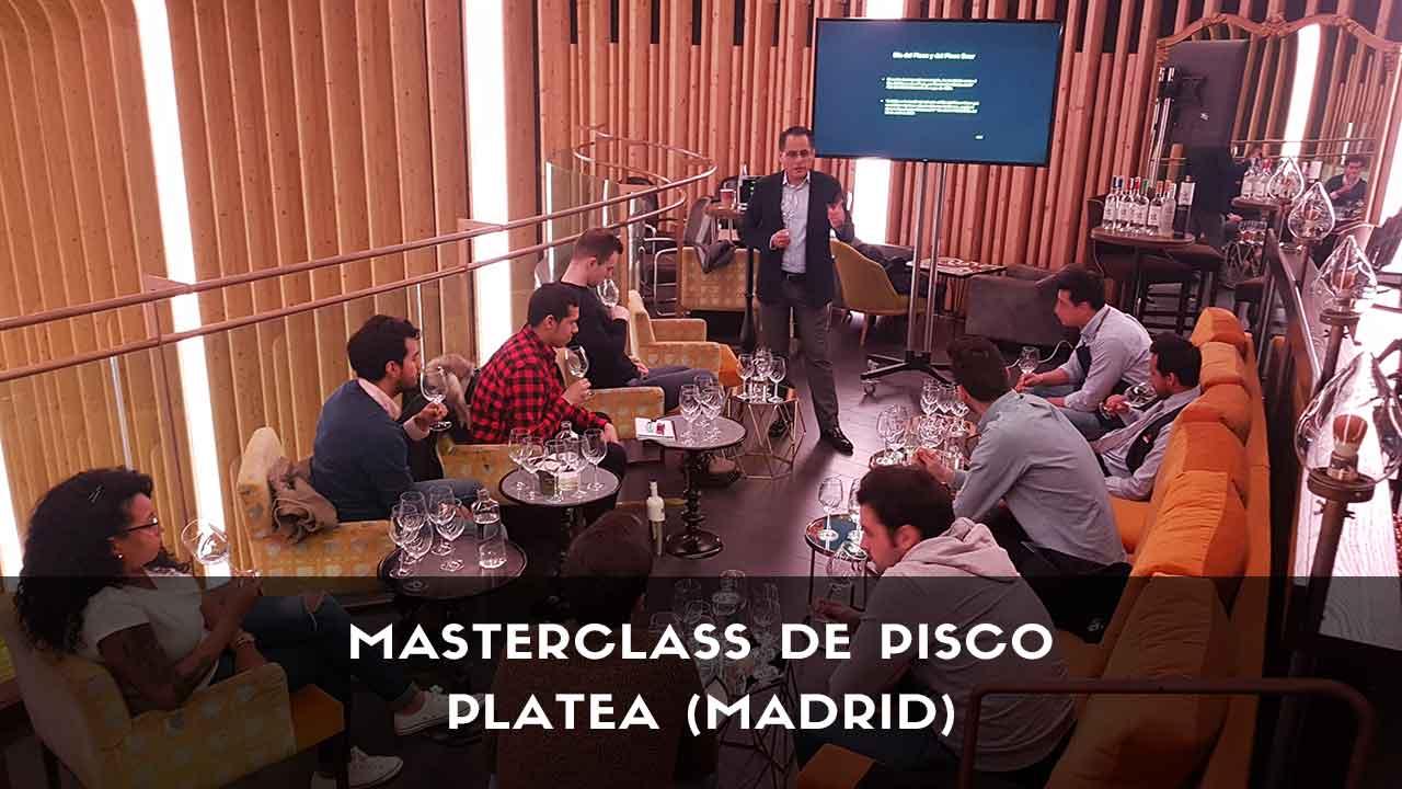 Masterclass y cata de pisco en la coctelería de Platea (Madrid)