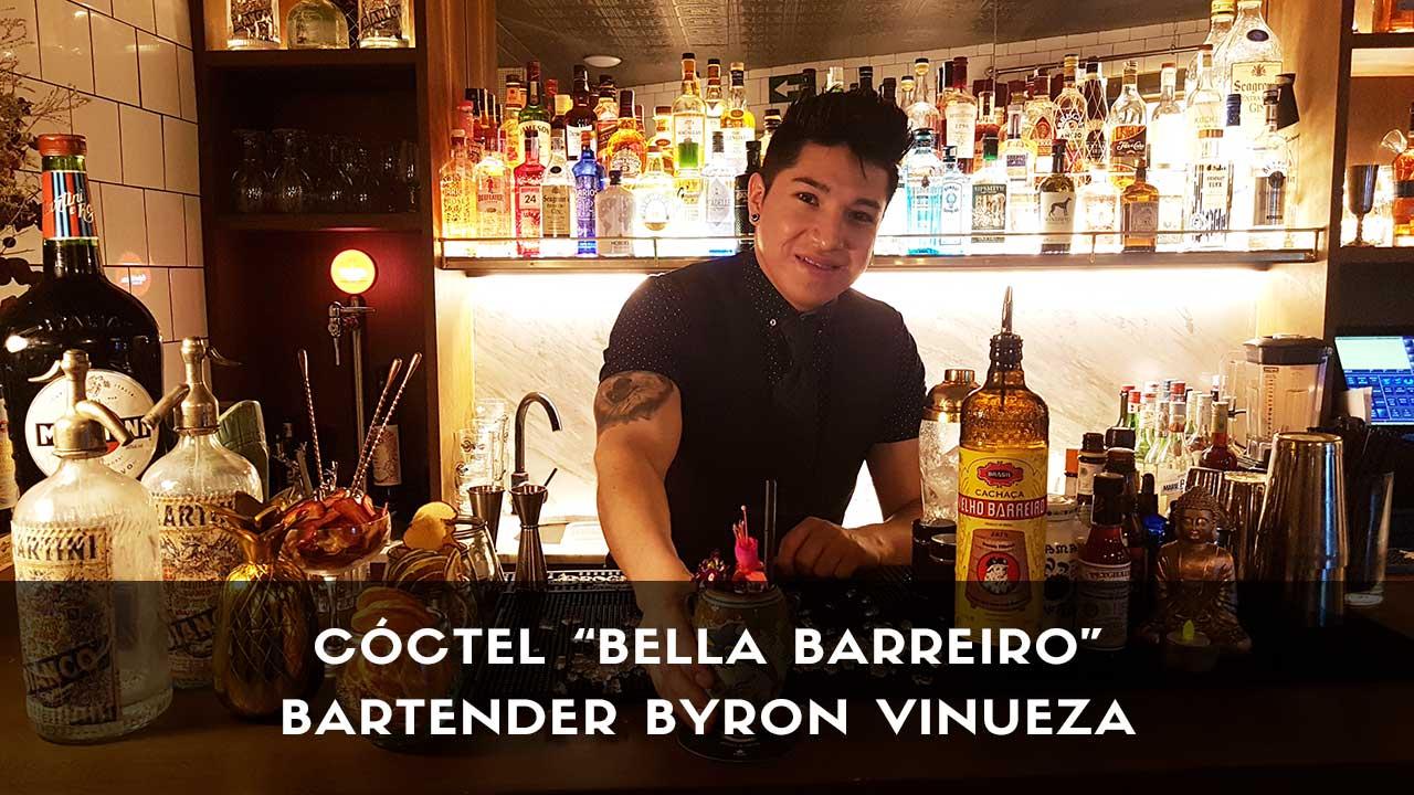 Cóctel con cachaça del bartender Byron Vinueza en la coctelería Café Comercial (Madrid)