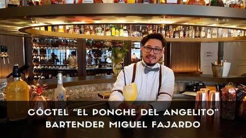 Cóctel con pisco del bartender Miguel Fajardo en la coctelería del Gran Hotel Inglés (Madrid)