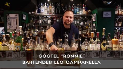 Cóctel con ron del bartender Leo Campanella en la coctelería de Tres Bocas (Madrid)