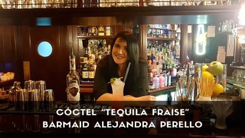Cóctel con tequila de la barmaid Alejandra Perello en la coctelería Broker Pub Garden (Madrid)