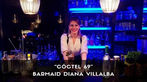 Cóctel con pisco de la barmaid Diana Villalba en la coctelería Klimt (Madrid)