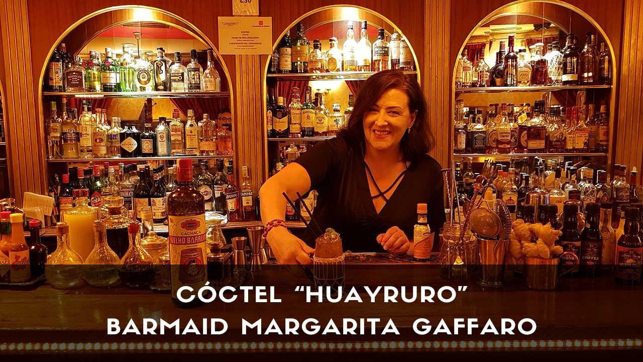 Cóctel con cachaça de la barmaid Margarita Gaffaro en la coctelería Harvey's Cocktail Bar (Madrid)