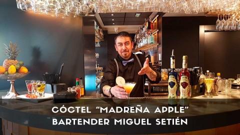 Cóctel con tequila del bartender Miguel Setién en la coctelería de La Madreña Castellana (Madrid)