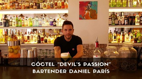 Cóctel con pisco del bartender Daniel Parísm en la coctelería Café Madrid (Madrid)
