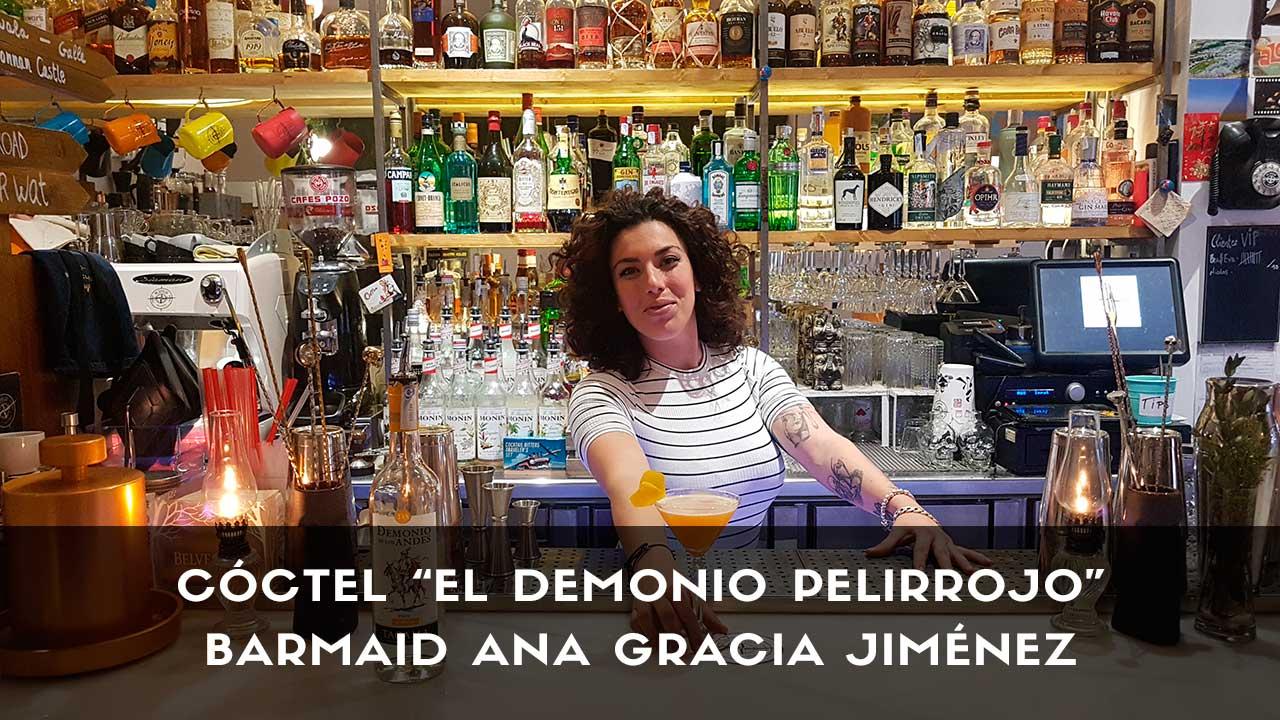 Cóctel con pisco de la barmaid Ana Gracia Jiménez en la coctelería The Traveller (Madrid)