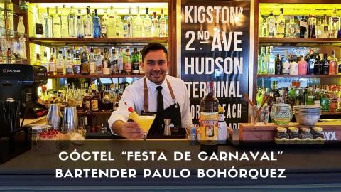 Cóctel con cachaça del bartender Paulo Bohórquez en la coctelería de Casa Mono (Madrid)