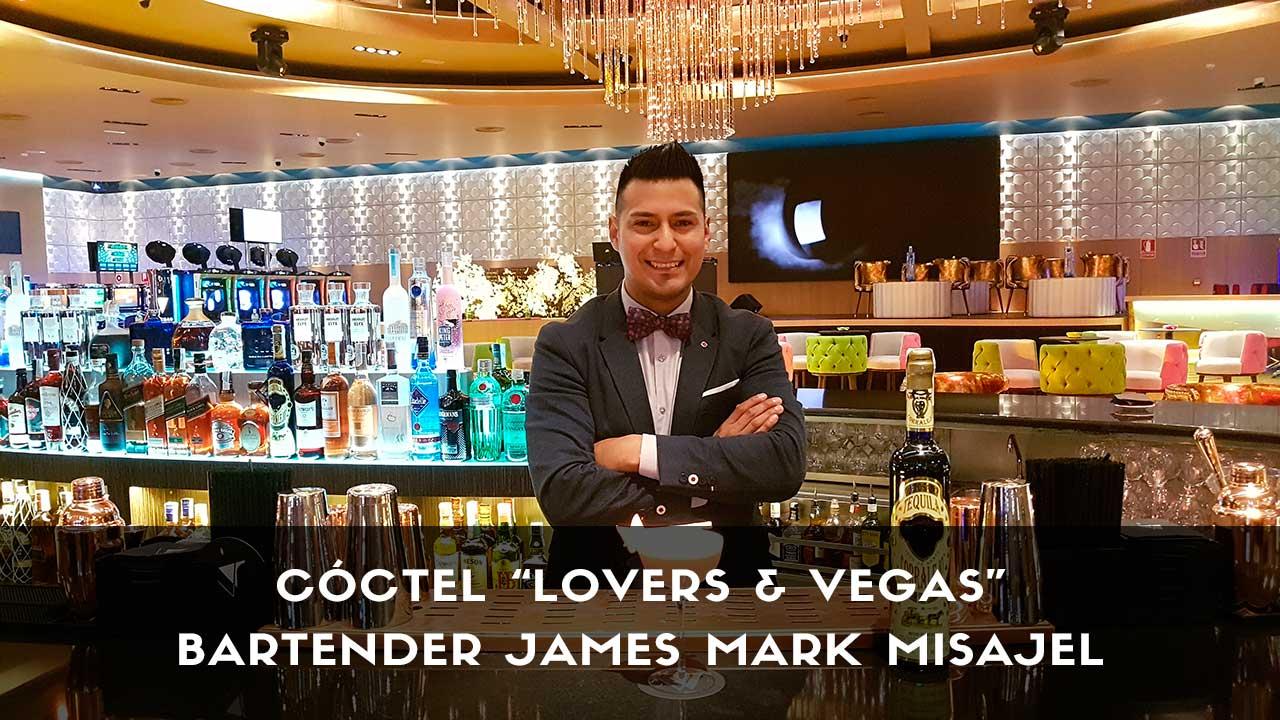 Cóctel con tequila del bartender James Mark Misajel en la coctelería de V de Vegas (Madrid)