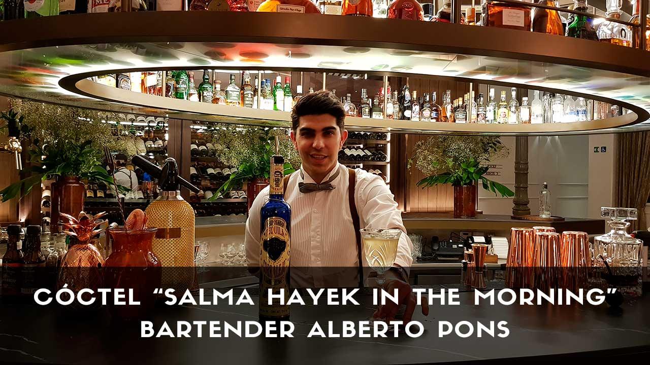Cóctel con tequila del bartender Alberto Pons en la coctelería del Gran Hotel Inglés (Madrid)