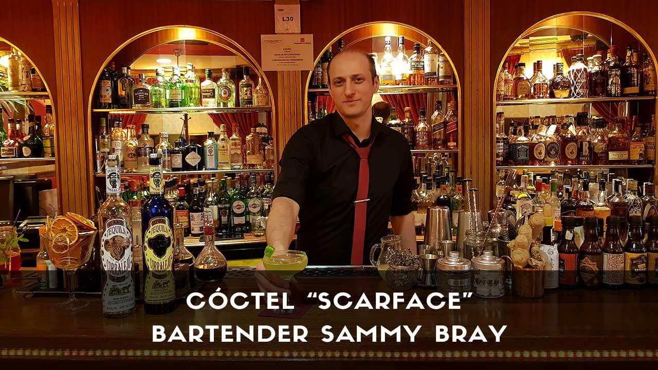 Cóctel con tequila del bartender Sammy Bray en la coctelería Harvey's Cocktail Bar (Madrid)