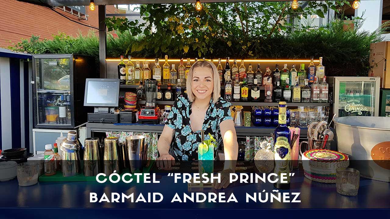 Cóctel con tequila de la barmaid Andrea Núñez en la coctelería de Chihuahua (Encinar de los Reyes, Madrid)
