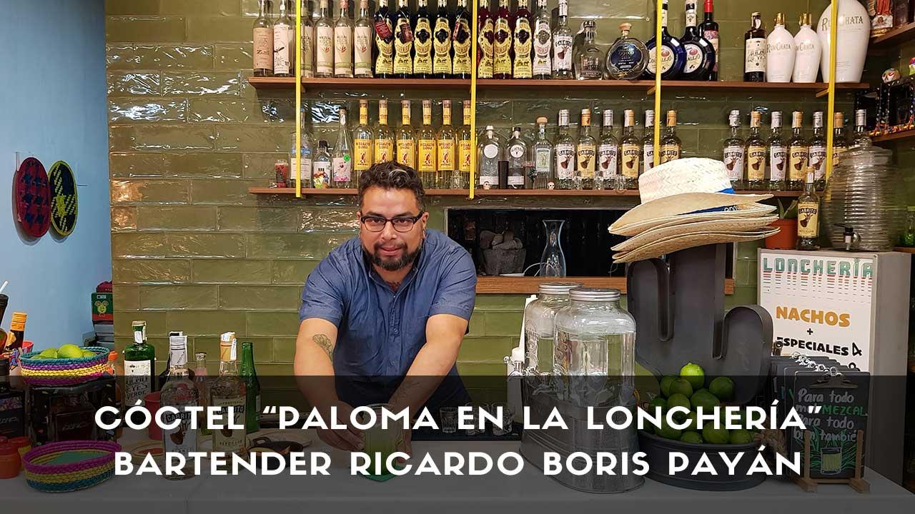 Cóctel Paloma del bartender Ricardo Boris Payán en la coctelería de La Lonchería (Madrid)