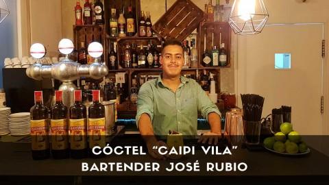 Cóctel Caipirinha del bartender José Rubio en la coctelería de Vila Brasil (Madrid)