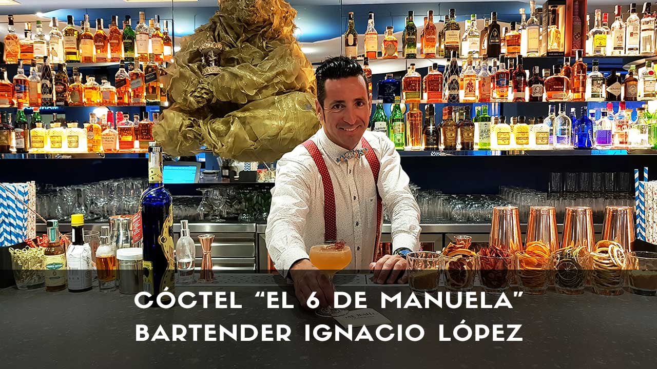 Cóctel con tequila del bartender Ignacio López en la coctelería San Mateo Circus (Madrid)