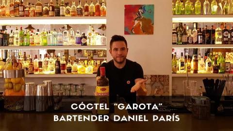 Cóctel con cachaça del bartender Daniel París en la coctelería Café Madrid (Madrid)