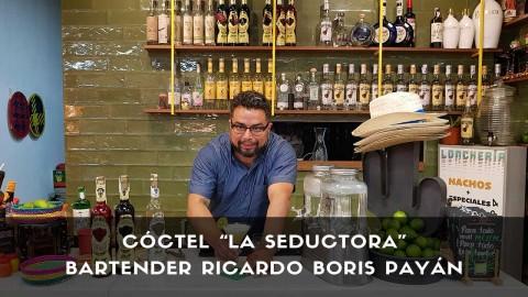 Cóctel con tequila del bartender Ricardo Boris Payán en la coctelería de La Lonchería (Madrid)