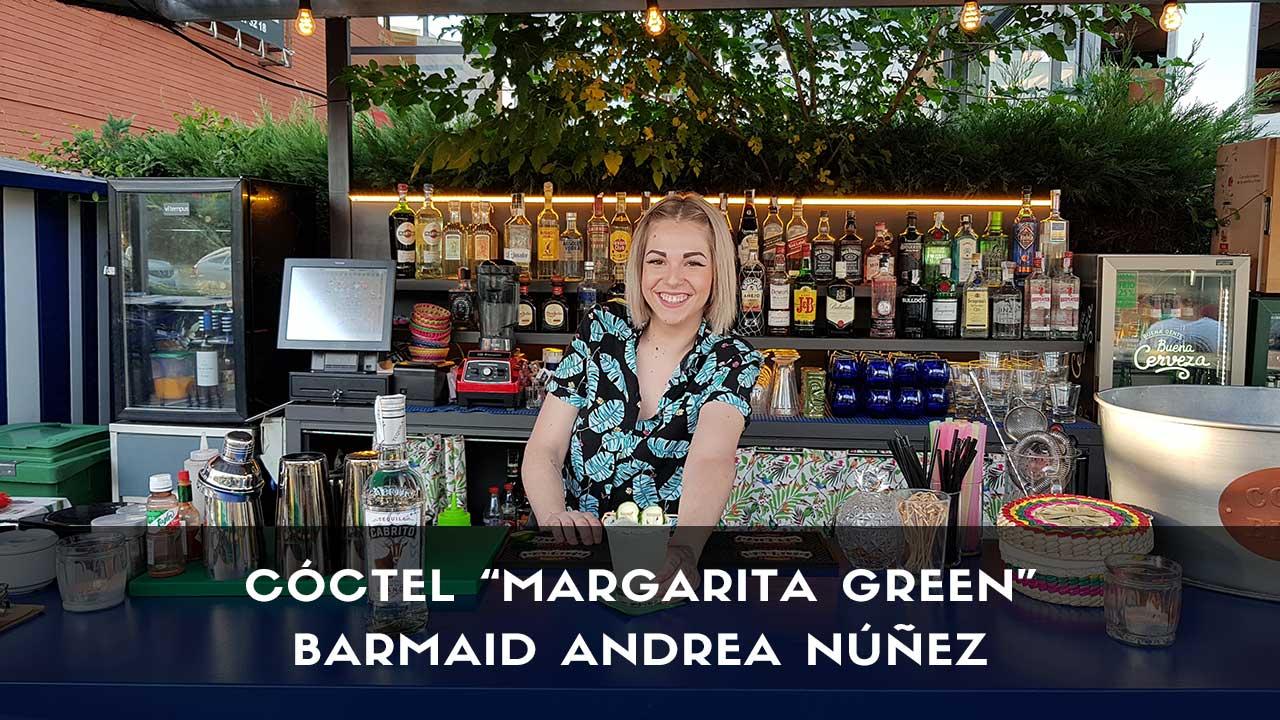 Cóctel Margarita de la barmaid Andrea Núñez en la coctelería de Chihuahua (Encinar de los Reyes, Madrid)