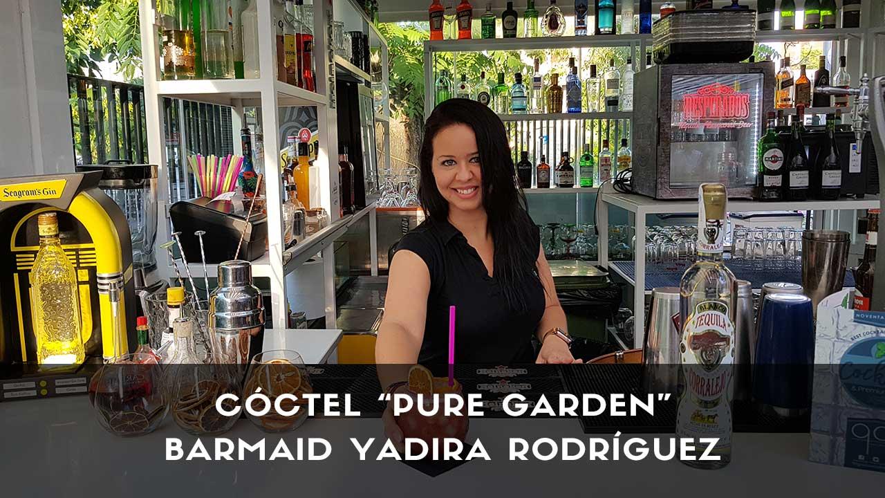 Cóctel con tequila de la barmaid Yadira Rodríguez en la coctelería de 90 Grados (Madrid)