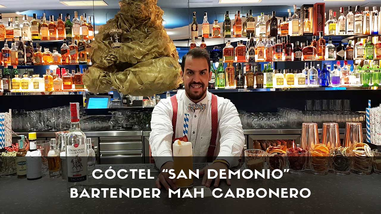 Cóctel con pisco del bartender Mah Carbonero en la coctelería San Mateo Circus (Madrid)