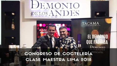 Los bartender Digo Cabrera y Erik Lorincz en el Congreso de Coctelería Clase Maestra Lima 2018