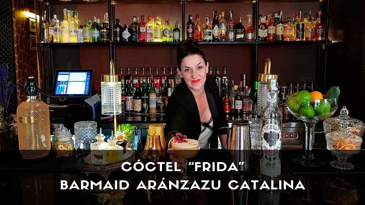 Cóctel con tequila de la barmaid Aránzazu Catalina en la coctelería de Farándula (Madrid)