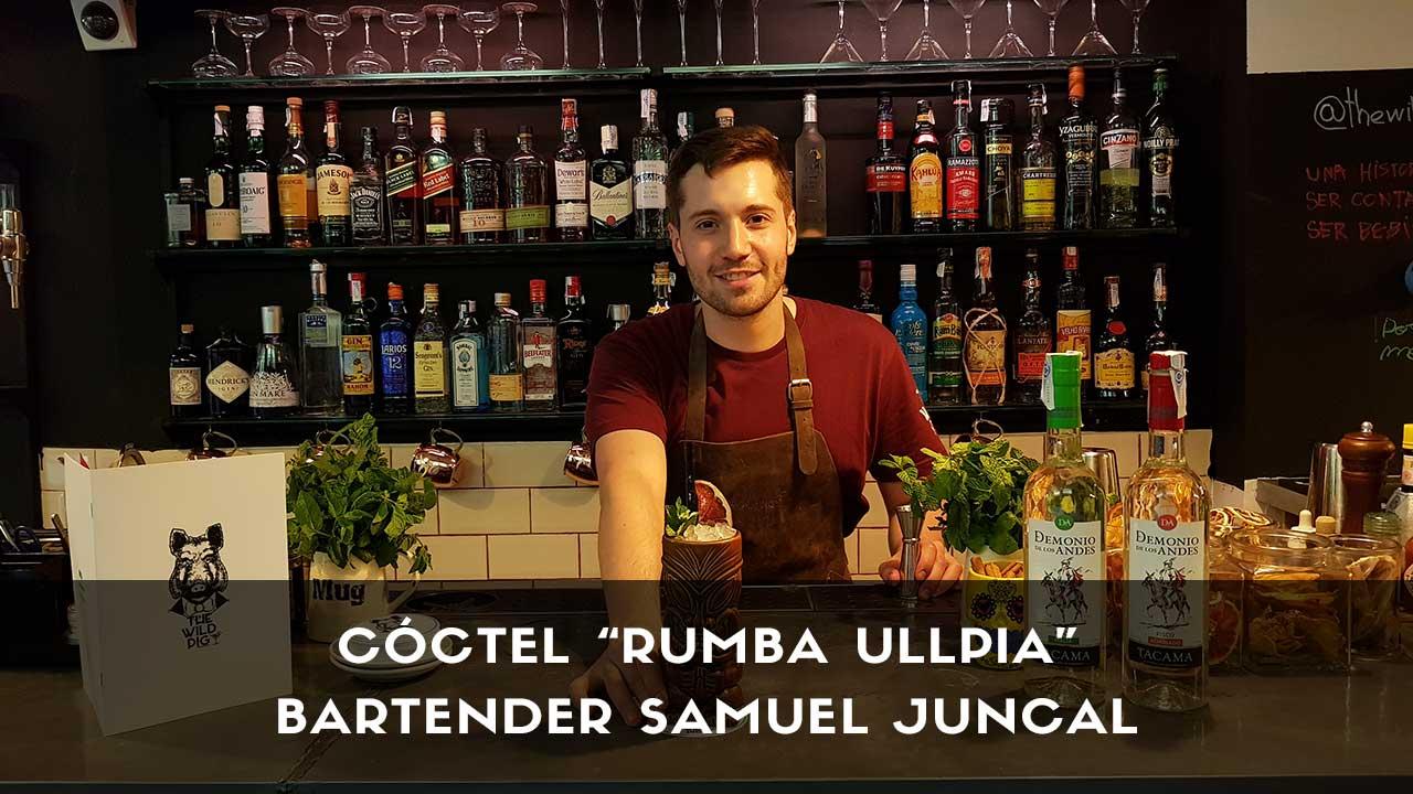 Cóctel con pisco del bartender Samuel Juncal en la coctelería de The Wild Pig (Madrid)