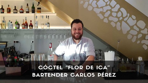Cóctel con pisco del bartender Carlos Pérez en la coctelería de El Jardín de Diana (Madrid)