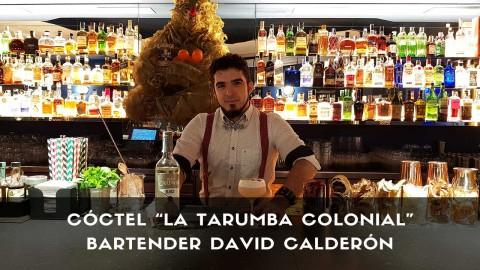 Cóctel con ron del bartender David Calderón en la coctelería San Mateo Circus (Madrid)